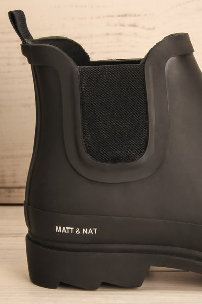 Laney - Black Matt & Nat flat rain boots 2