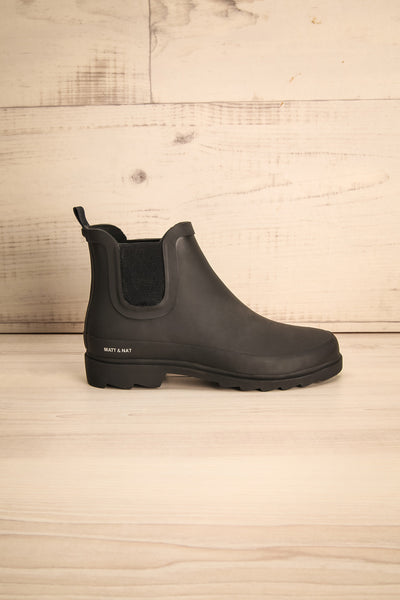 Laney - Black Matt & Nat flat rain boots 5