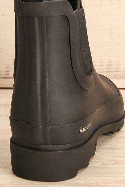 Laney - Black Matt & Nat flat rain boots 8