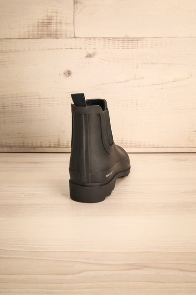 Laney - Black Matt & Nat flat rain boots 7