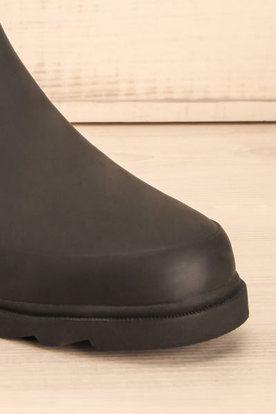 Laney - Black Matt & Nat flat rain boots 4