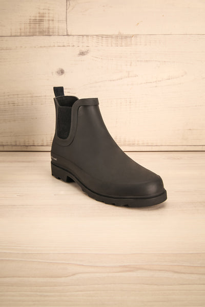 Laney - Black Matt & Nat flat rain boots 3