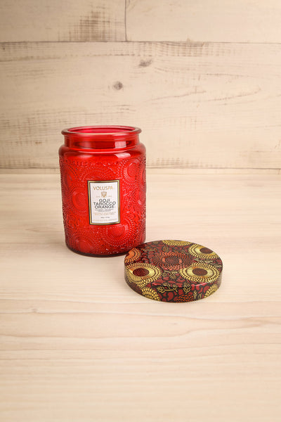 Large Jar Candle Goji Tarocco Orange | La petite garçonne open