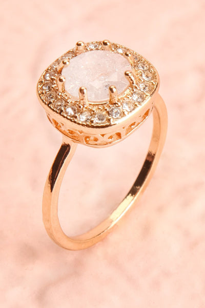 Latum Diamant Golden & White Statement Ring | Boutique 1861 5
