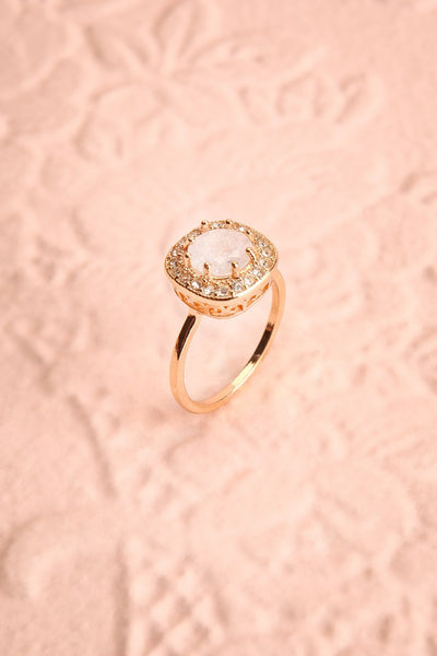 Latum Diamant Golden & White Statement Ring | Boutique 1861 1