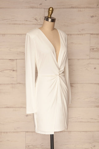 Laurine White Party Dress | Robe Blanche | La Petite Garçonne side view