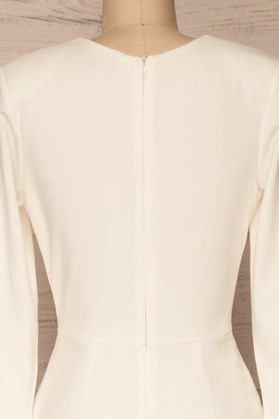 Laurine White Party Dress | Robe Blanche | La Petite Garçonne back close-up