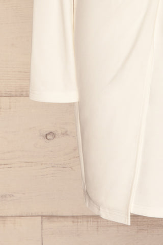 Laurine White Party Dress | Robe Blanche | La Petite Garçonne bottom close-up