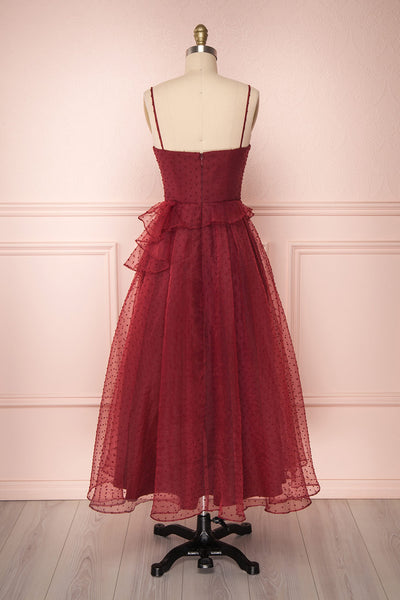 Lauvia Borgogna | Burgundy Midi Dress