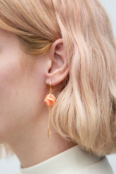 Leila Hyams Golden & Peach Pendant Earrings | Boutique 1861 model