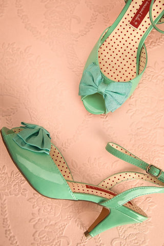 Lelu Douceur - Mint medium-heeled sandals