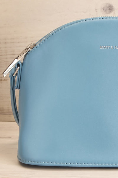 Leona Bleu Matt & Nat Crossbody Bag | La petite garçonne front close-up