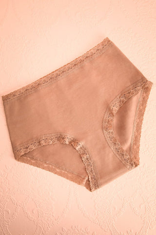 Lester Beige High Waisted Panties | Boutique 1861
