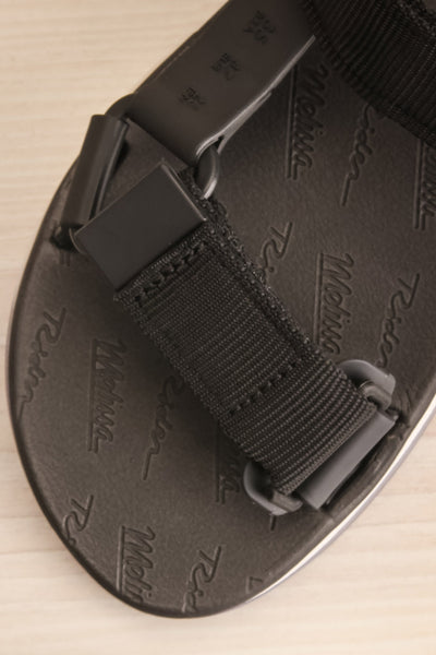 Liberec Black Universal Sandals | La petite garçonne flat close-up