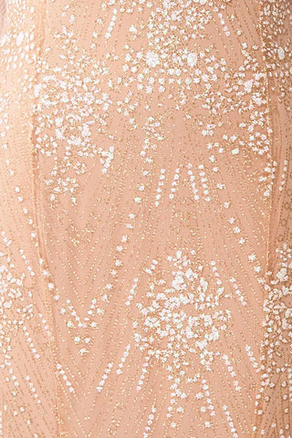 Liesel Blush Plus Size Mermaid Gown | Robe | Boutique 1861 fabric detail
