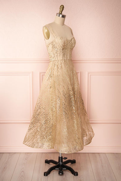 Lilitha Gold Party Dress | Robe Dorée | Boutique 1861 side view