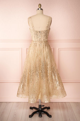 Lilitha Gold Party Dress | Robe Dorée | Boutique 1861 back view