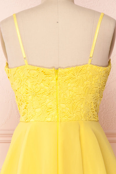 Lio Yellow | Lace & Chiffon Dress