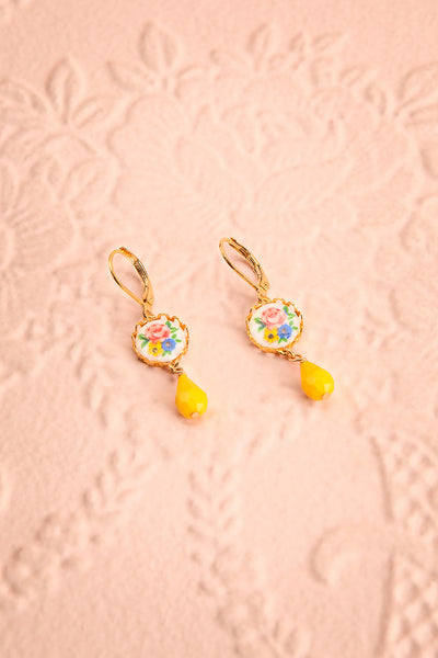 Liza Todd Vintage Inspired Floral Pendant Earrings | Boutique 1861