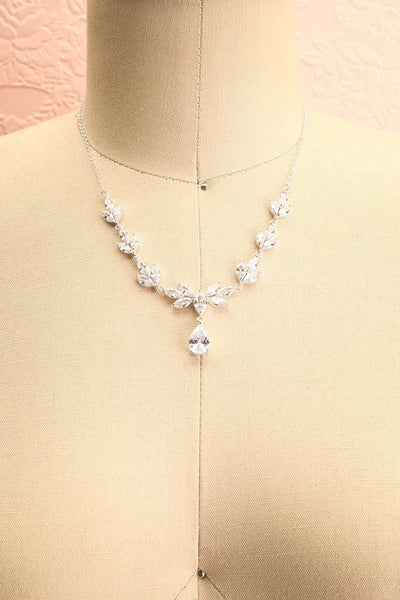 Loelia Silver Necklace w/ Drop Diamond Pendant | Boutique 1861