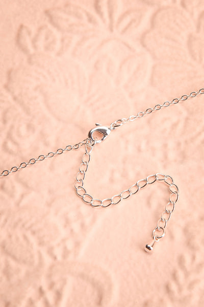 Loelia Silver Necklace w/ Drop Diamond Pendant | Boutique 1861 closure