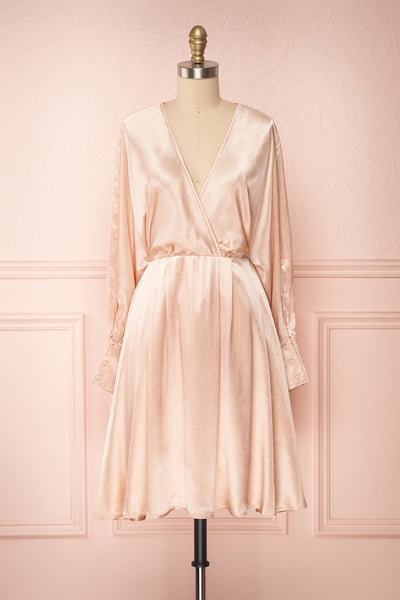 Loralyn Pink Satin Party Dress | Robe | Boutique 1861