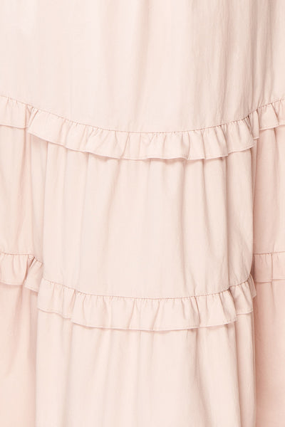Lorez Dusty Pink Belted Puffy Sleeve Maxi Dress | Boutique 1861  fabric