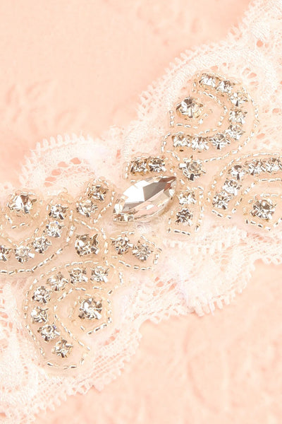 Loridana White Lace Garter with Diamonds | Boudoir 1861
