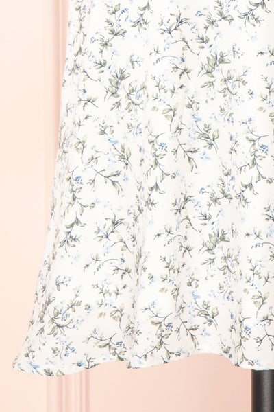 Loupat White Floral A-Line Short Dress | Boutique 1861 bottom