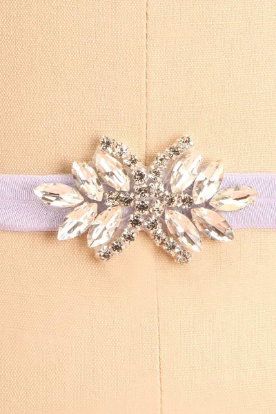 Lumen Lilas Lilac Ribbon Belt with Crystals | Boudoir 1861 3