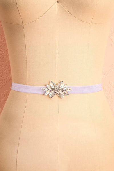 Lumen Lilas Lilac Ribbon Belt with Crystals | Boudoir 1861 4