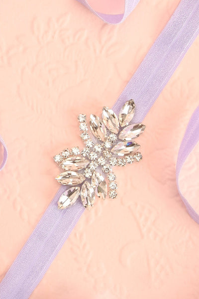 Lumen Lilas Lilac Ribbon Belt with Crystals | Boudoir 1861 5