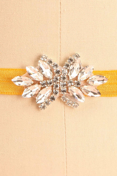 Lumen Moutarde Mustard Ribbon Belt with Crystals | Boudoir 1861 3