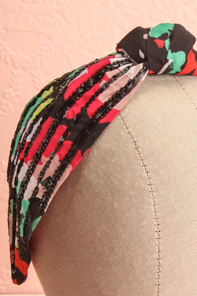 Luzule Colourful Beaded Bow Fabric Headband | Boutique 1861