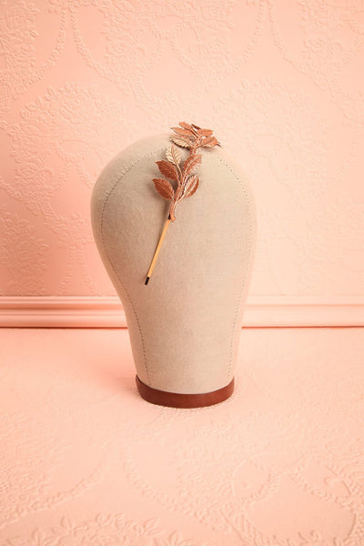 Lycope Rose Golden Leaves Headband | Boudoir 1861