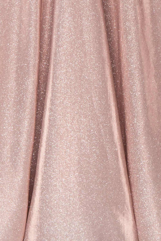 Maarit Blush Glittery Dress | Robe Maxi | Boutique 1861 fabric detail