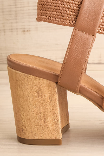 Maastricht Brown High Heel Sandals | La petite garçonne side close-up