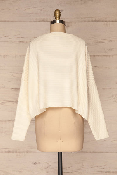 Magan Cream Knit Sweater | Tricot back view | La Petite Garçonne