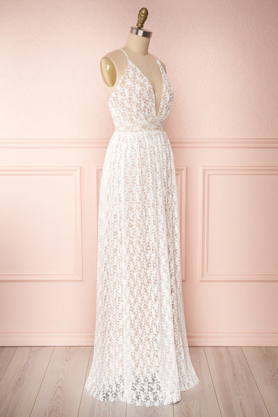 Mairead White Maxi Dress | Robe longue | Boutique 1861 side view