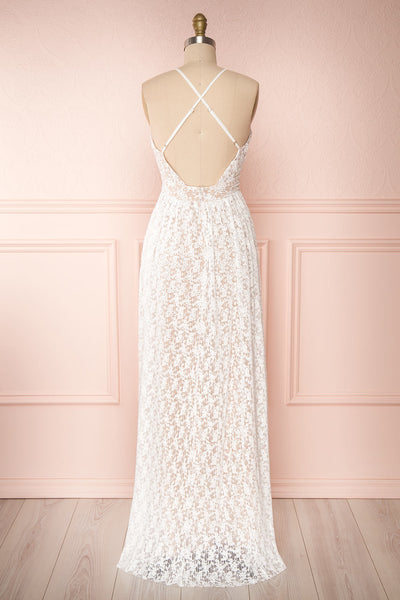 Mairead White Maxi Dress | Robe longue | Boutique 1861 back view
