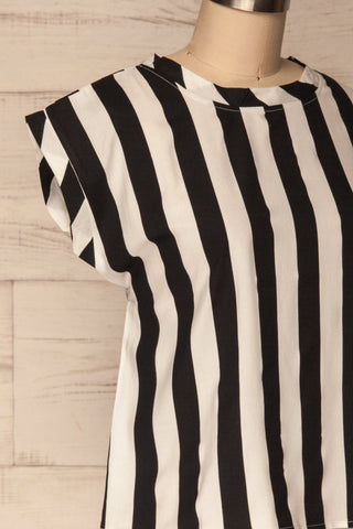 Manyatin Black & White Striped Short Sleeved Top | La Petite Garçonne 4