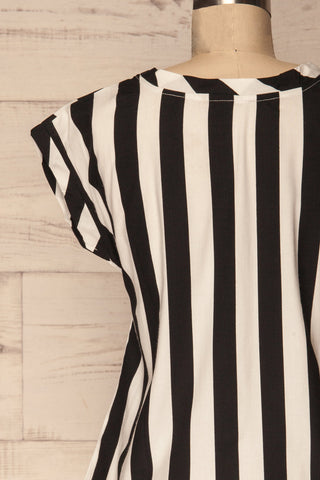 Manyatin Black & White Striped Short Sleeved Top | La Petite Garçonne 6