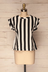 Manyatin Black & White Striped Short Sleeved Top | La Petite Garçonne