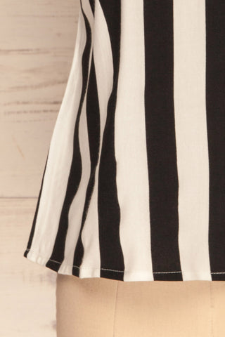 Manyatin Black & White Striped Short Sleeved Top | La Petite Garçonne 7