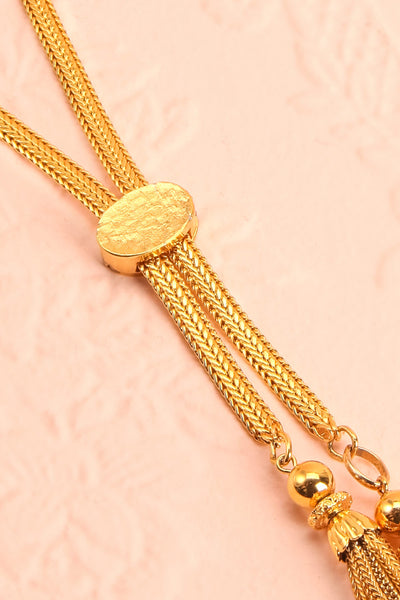 Marcia Otacilia Vintage Gold Necklace with Tassels | Boudoir 1861 5