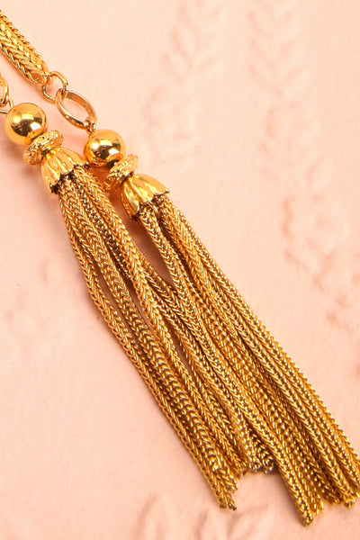 Marcia Otacilia Vintage Gold Necklace with Tassels | Boudoir 1861 6