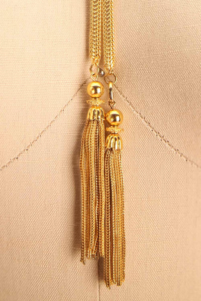 Marcia Otacilia Vintage Gold Necklace with Tassels | Boudoir 1861 2