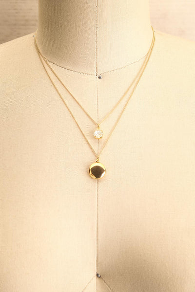 Margaret Sullavan Crystal & Locket Pendant Necklace | Boutique 1861 1