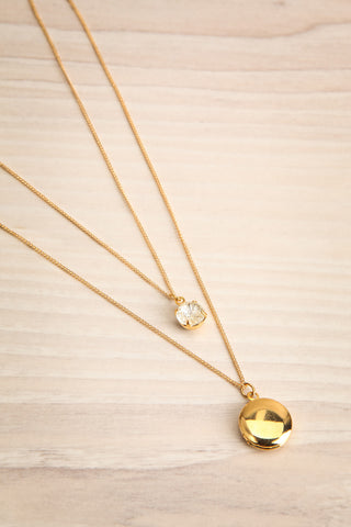 Margaret Sullavan Crystal & Locket Pendant Necklace | Boutique 1861 6