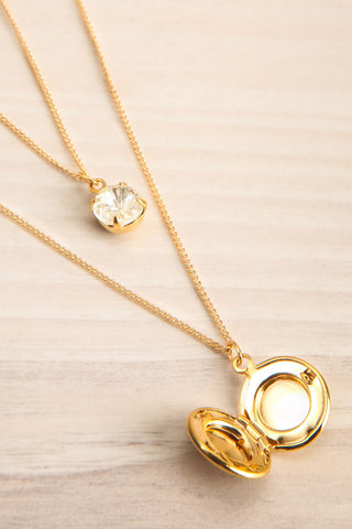 Margaret Sullavan Crystal & Locket Pendant Necklace | Boutique 1861 3